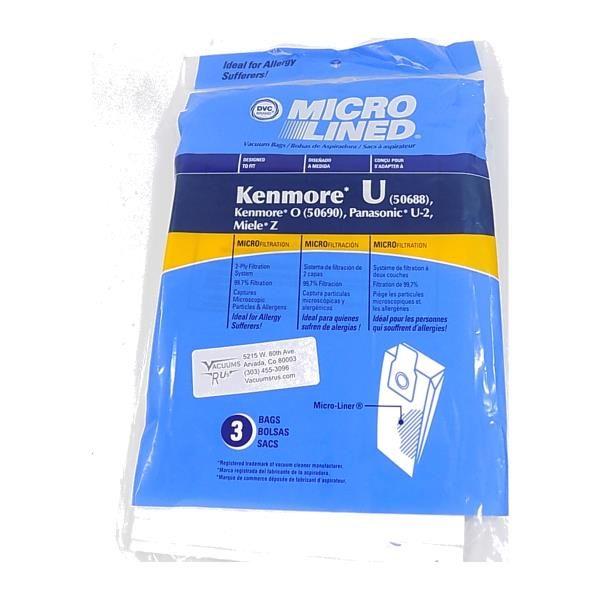 Kenmore Type U 3 Packdvc Bags Vacuumsrus
