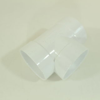 Short 90 degree Tee Central Vacuum PVC Fitting Pipe Tubing