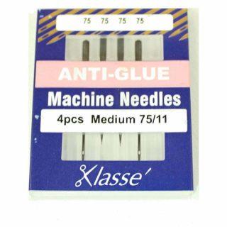 Klasse Anti Glue 75/11 Sewing Machine Needles 4pk
