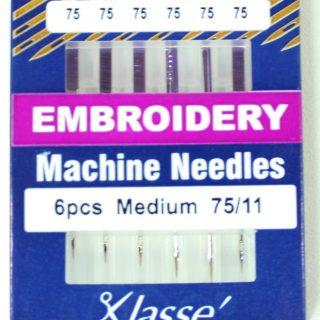 Klasse Embroidery 75/11 Sewing Machine Needles 6pk