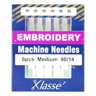 Klasse Embroidery 90/14 Sewing Machine Needles 6pk
