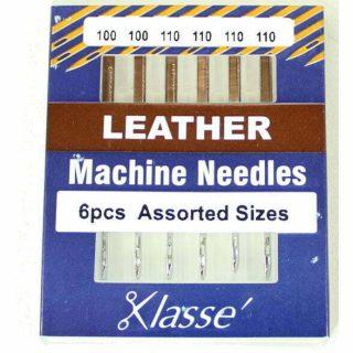 Klasse Leather 100/16 110/18 Sewing Machine Needles 6pk