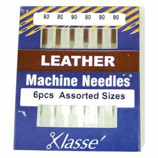 Klasse Leather 80/12 90/14 Sewing Machine Needles 6pk