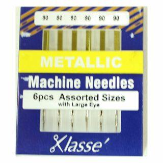 Klasse Metallic 80/12 90/14 Sewing Machine Needles 6pk