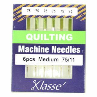 Klasse Quilting 75/11 Sewing Machine Needles 6pk