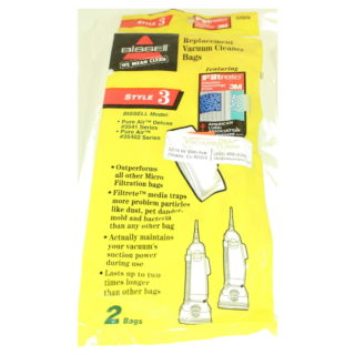 **NLA** PAPER BAG, STYLE 3 PURE AIR & UPRTS 3pk
