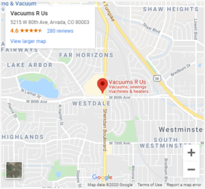 map to arvada store