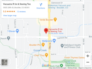 Map to boulder store