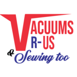 Vacuums R Us & Sewing too logo square small white border